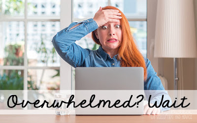 Should I Start an Email List: Overwhelmed? Wait, Woman with laptop looking overwhelmed