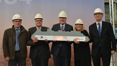 Steel Cutting Ceremony Celebrity Edge Saint Nazaire France STC France
