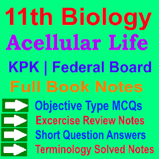 KPK Board and Federal Board Biology Notes In PDF