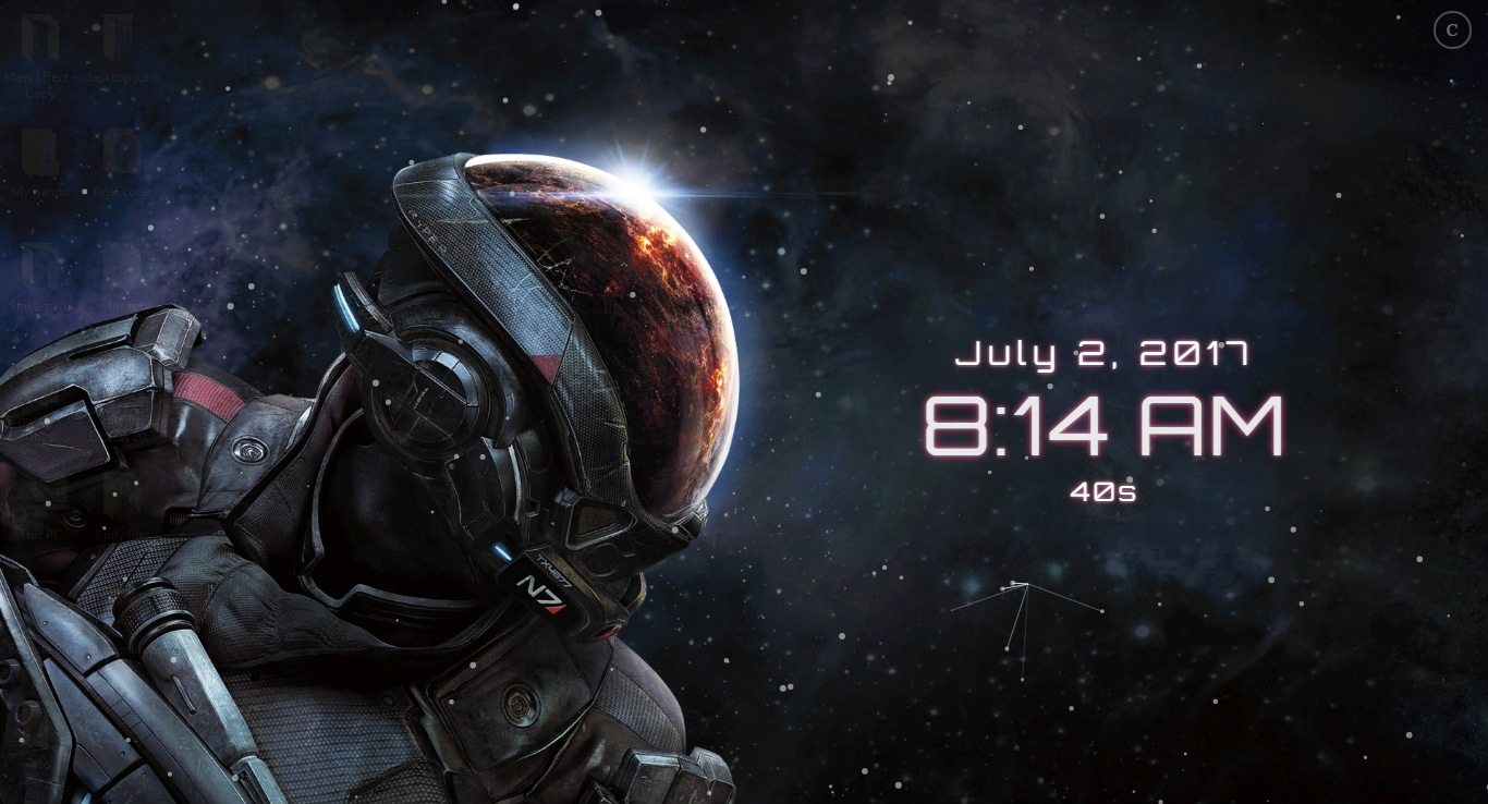 Mass Effect Andromeda + Digital Clock Wallpaper Engine ...