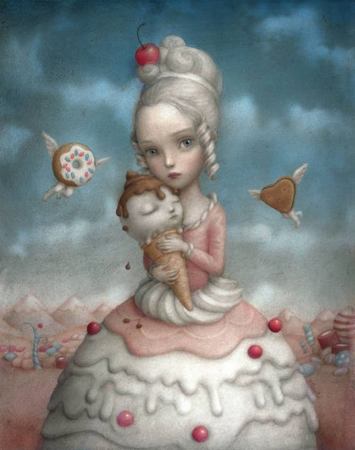 21-Cherrie-Nicoletta-Ceccoli-Surreal-Fairy-Tales-NOT-for-Children-www-designstack-co