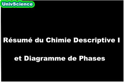 Résumé Chimie Descriptive et Diagramme de Phases SMC S3.