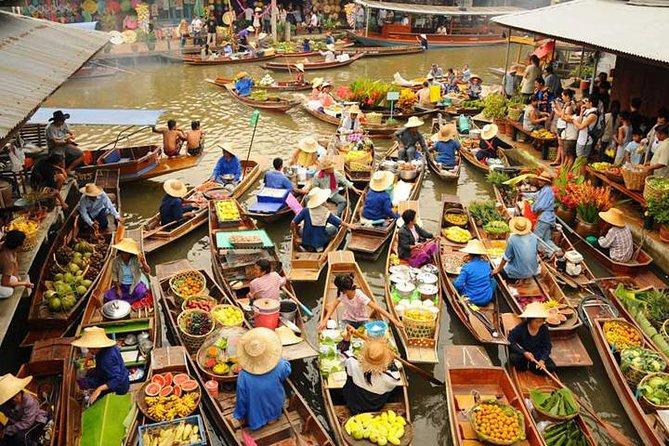 10 Destinasi Wisata  Di Bangkok Yang Wajib Dikunjungi - Damnoen Saduak Floating Market