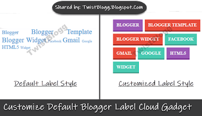 Customize Default Label Gadget In Blogger - Cloud