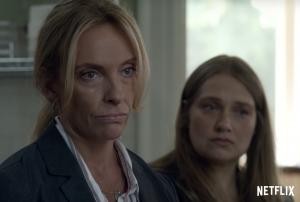 Detectives Grace Rasmussen (Toni Collette) and Karen Duvall (Merritt Wever) investigate.