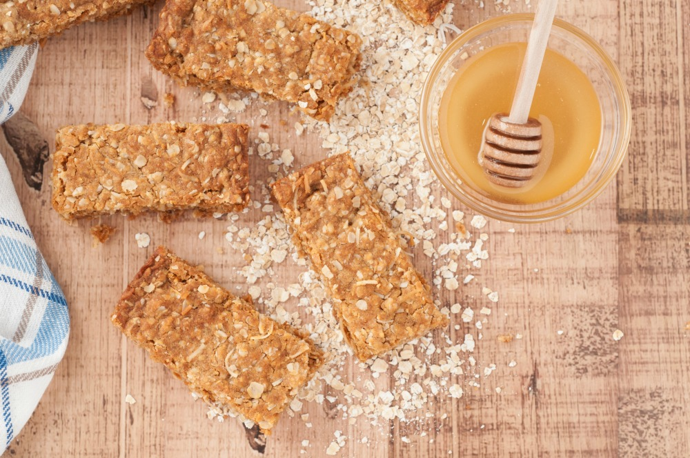 homemade granola bars with several variations