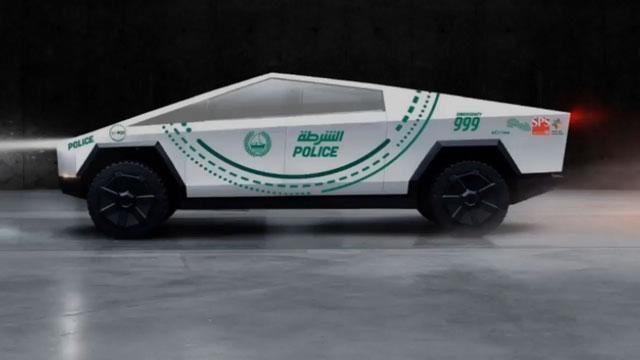 دبي تخطط لتحويل سيارة تسلا سايبرتروك إلى سيارة شرطة مخصصة للسياحة