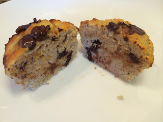 Grain Free Banana and Choc chip muffins