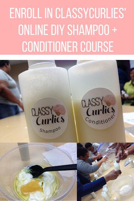 Enroll in the online course that teaches you how to make your own shampoo and conditioner - ClassyCurlies
