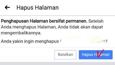 Cara Menghapus Halaman Facebook atau Facebook Page di Akun Facebook