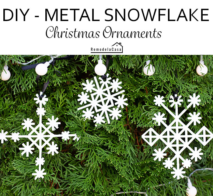 how to cut aluminum sheet to create snowflakes