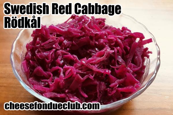 スウェーデンの赤キャベツのレシピ Swedish Red Cabbage, Rödkål