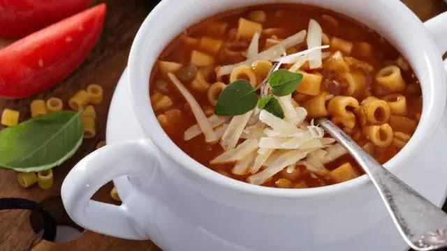 Italian lentil soup recipe with pasta