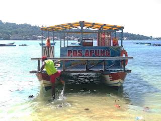 Perahu komunitas anak air manokwari