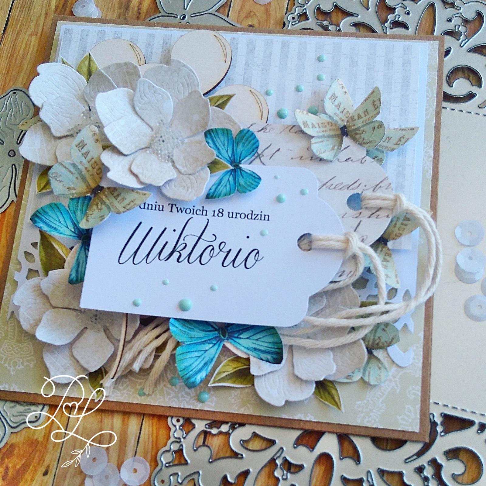 Piękne kartki urodzinowe Katarzyna Rajczakowska Papierowe Love