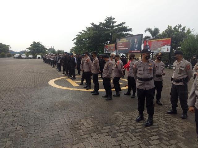 Polda Lampung melaksanakan apel kesiapan personel Operasi Ketupat Krakatau 2021