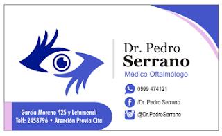 Tarjetas de presentación para oftalmólogos