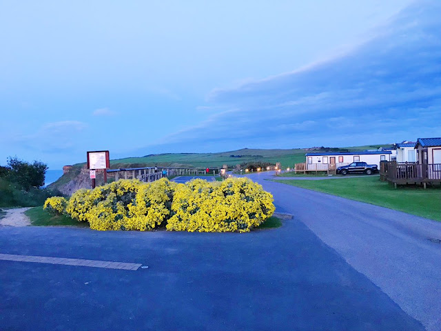 Whitby holiday park at night