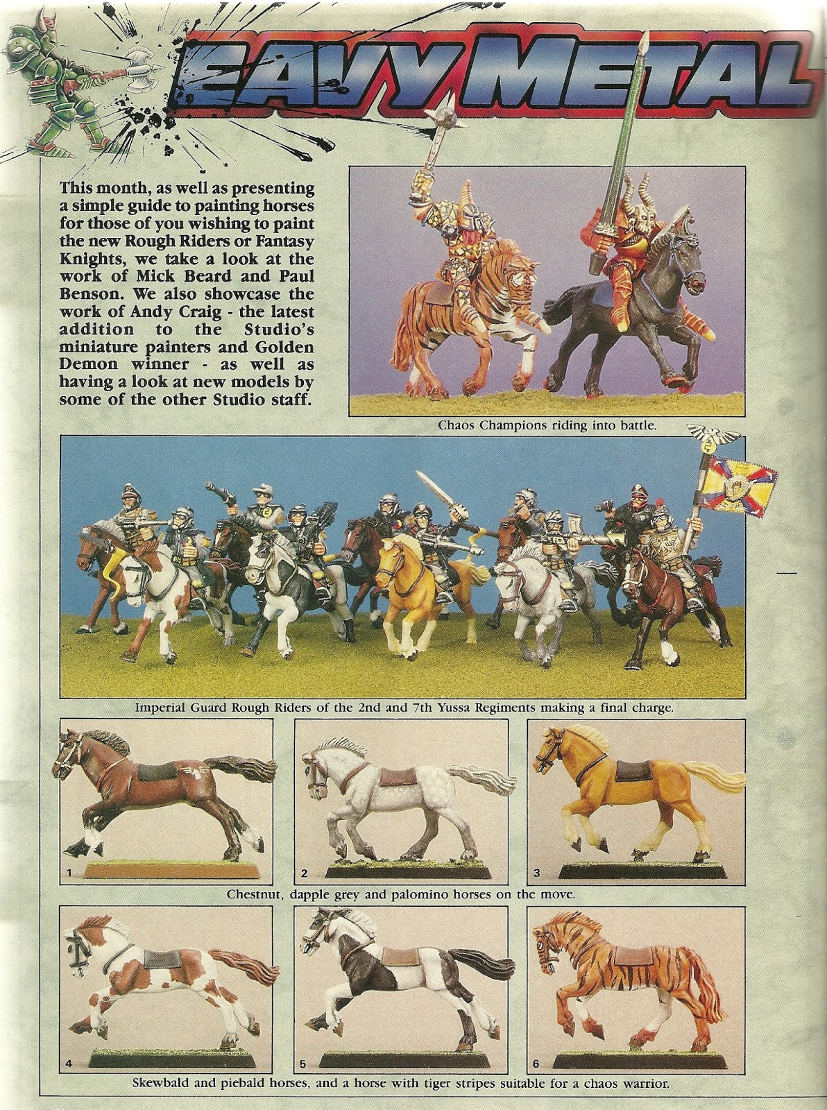 Citadel's new plastic horses were also showcased with a brief guide to  painting them here.