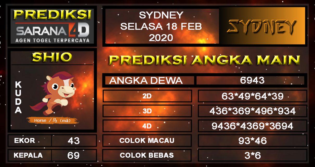 Prediksi Togel Sidney 18 februari 2020 - Prediksi Angka Main