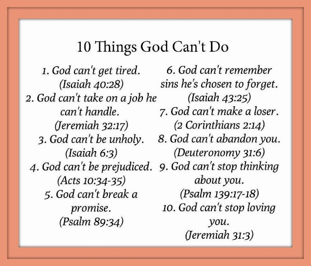 10 Things God Cant Do