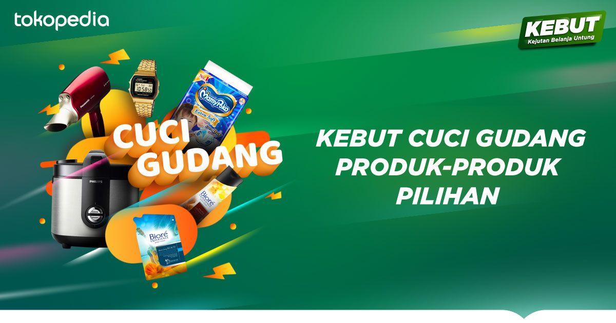 Tokopedia - Promo KEBUT Cuci Gudang Produk Pilihan (05 - 07 Des 2018)
