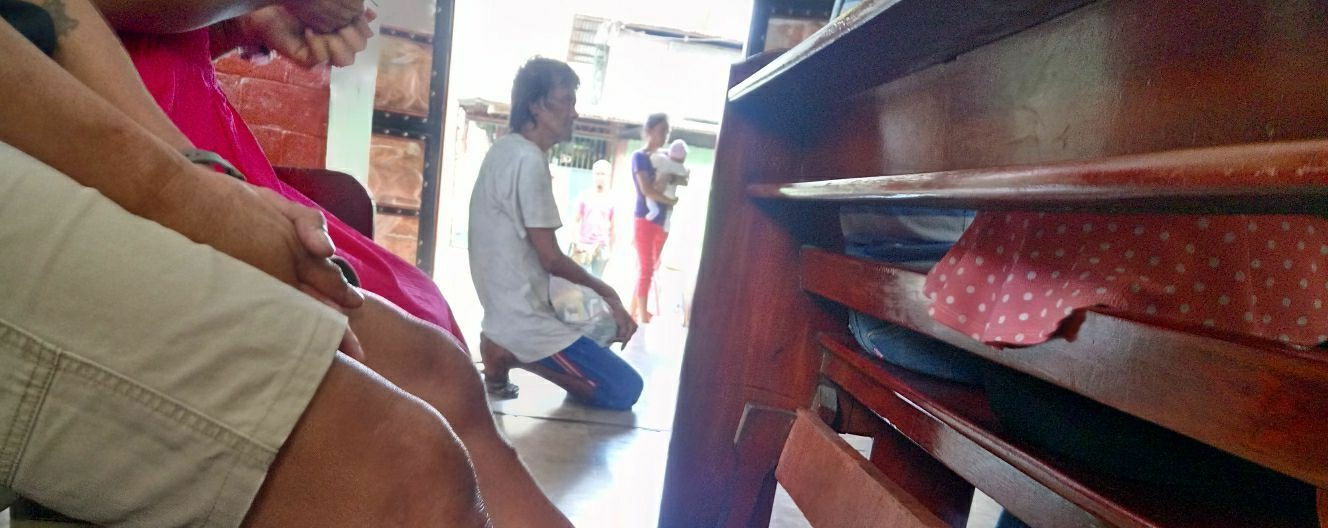 A homeless man was 'denied' communion at a Church in Malabon