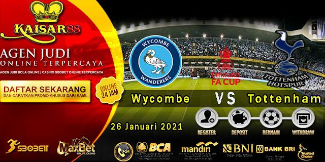 Prediksi Bola Terpercaya Liga English Cup Wycombe vs Tottenham 26 Januari 2021