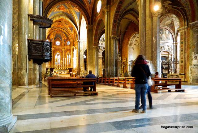 Interior da Igreja de Santa Maria Sopra Minerva, Roma