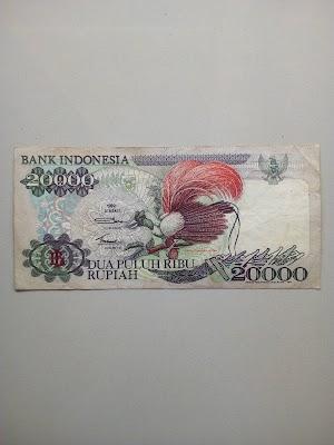20000 rupiah tahun 1992