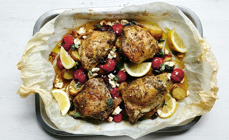 Greek Chicken with Feta and Kalamata Olives
