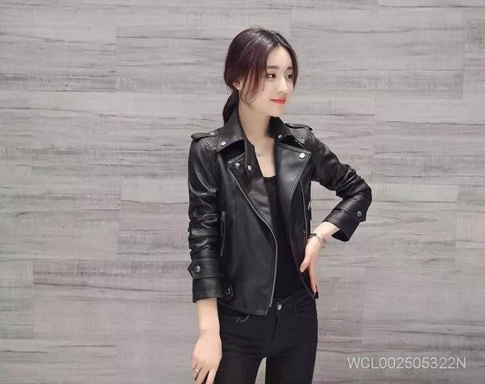 Ms Short Paragraph Slim Leather Jacket
