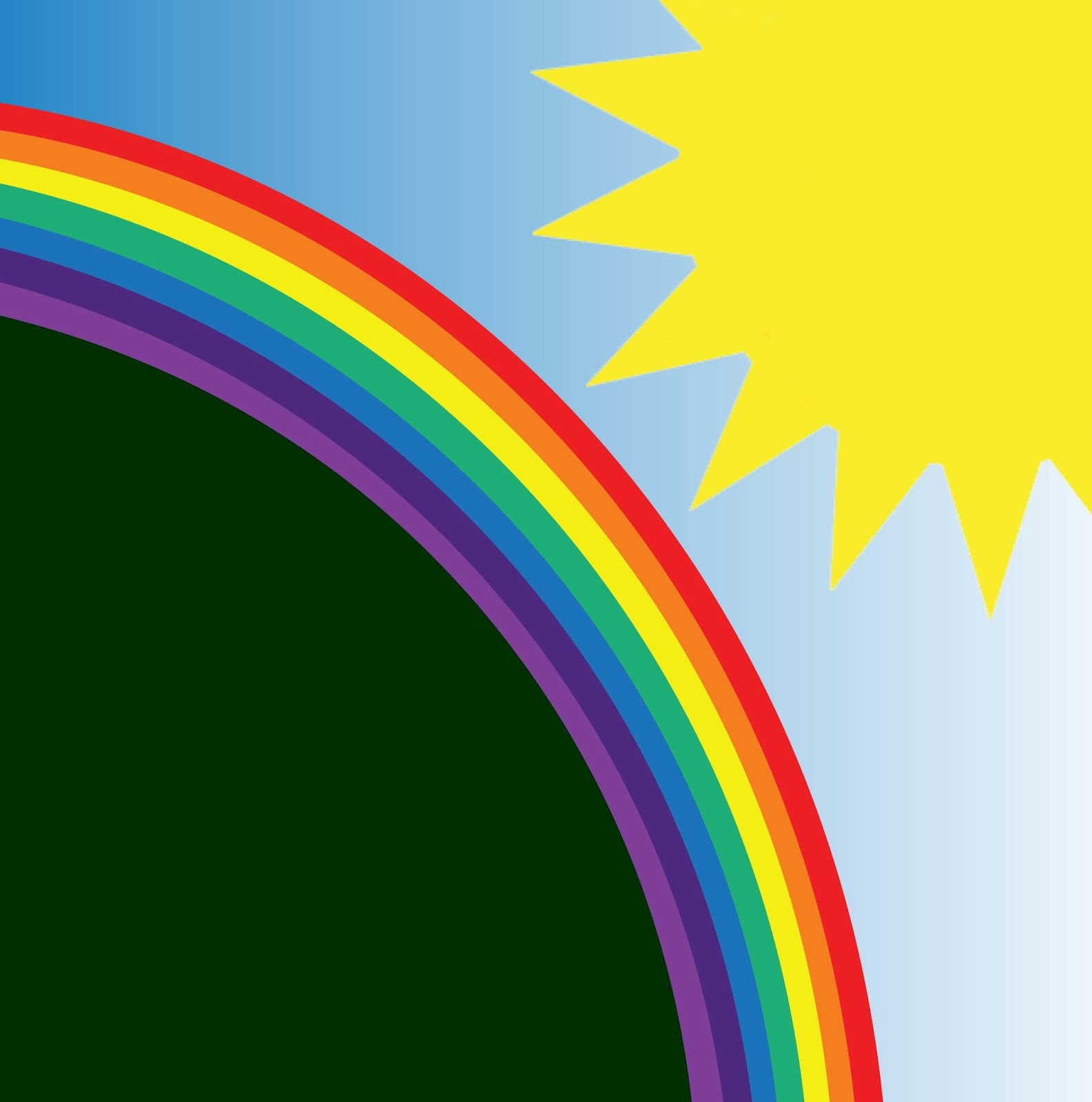 Dreaming about rainbows and sunshine feels like abundant financial health after a rainstorm!