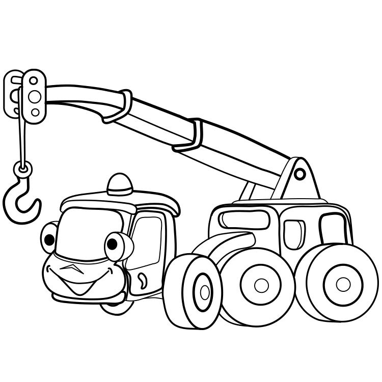 contoh gambar mewarnai mobil derek  kataucap
