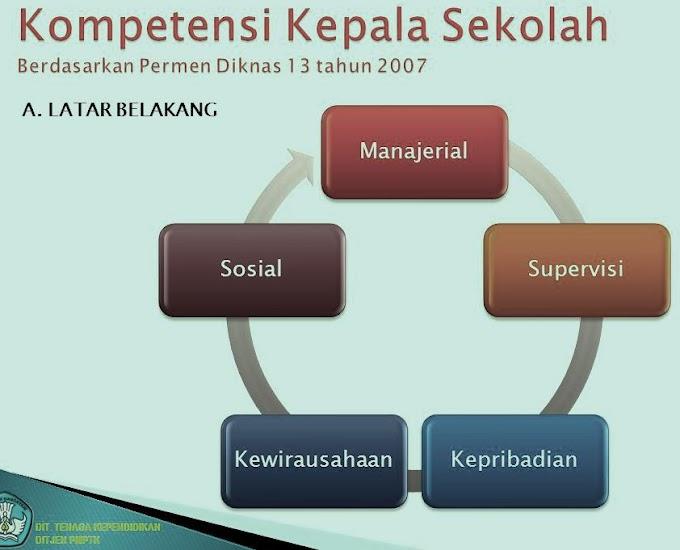 Penjelasan 5 Kompetensi Kepala Sekolah berdasarkan Permendikbud Nomor 13 Tahun 2007