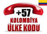 +57 Kolombiya ülke telefon kodu