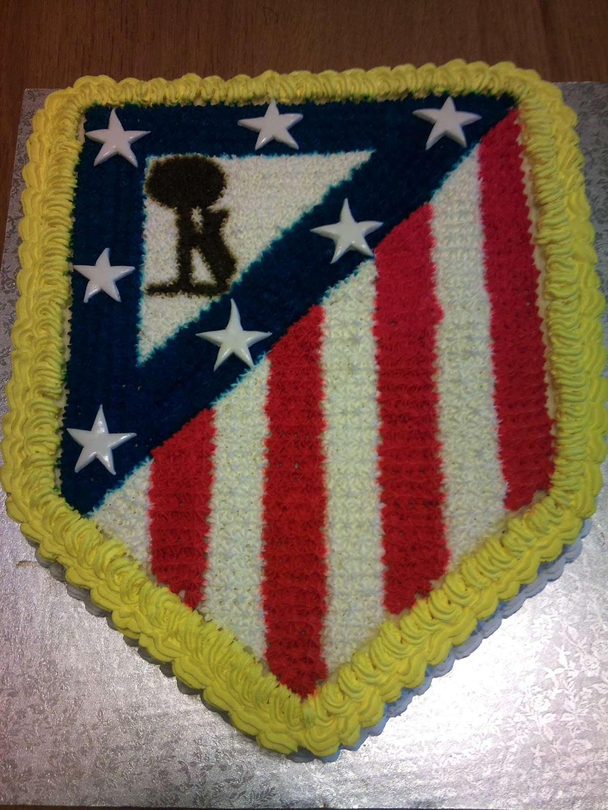 Galletas Decoradas Madrid Tartas-artesanales: Escudo Atletico De Madrid!!!