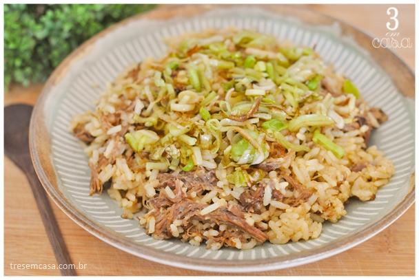 como fazer arroz de costela