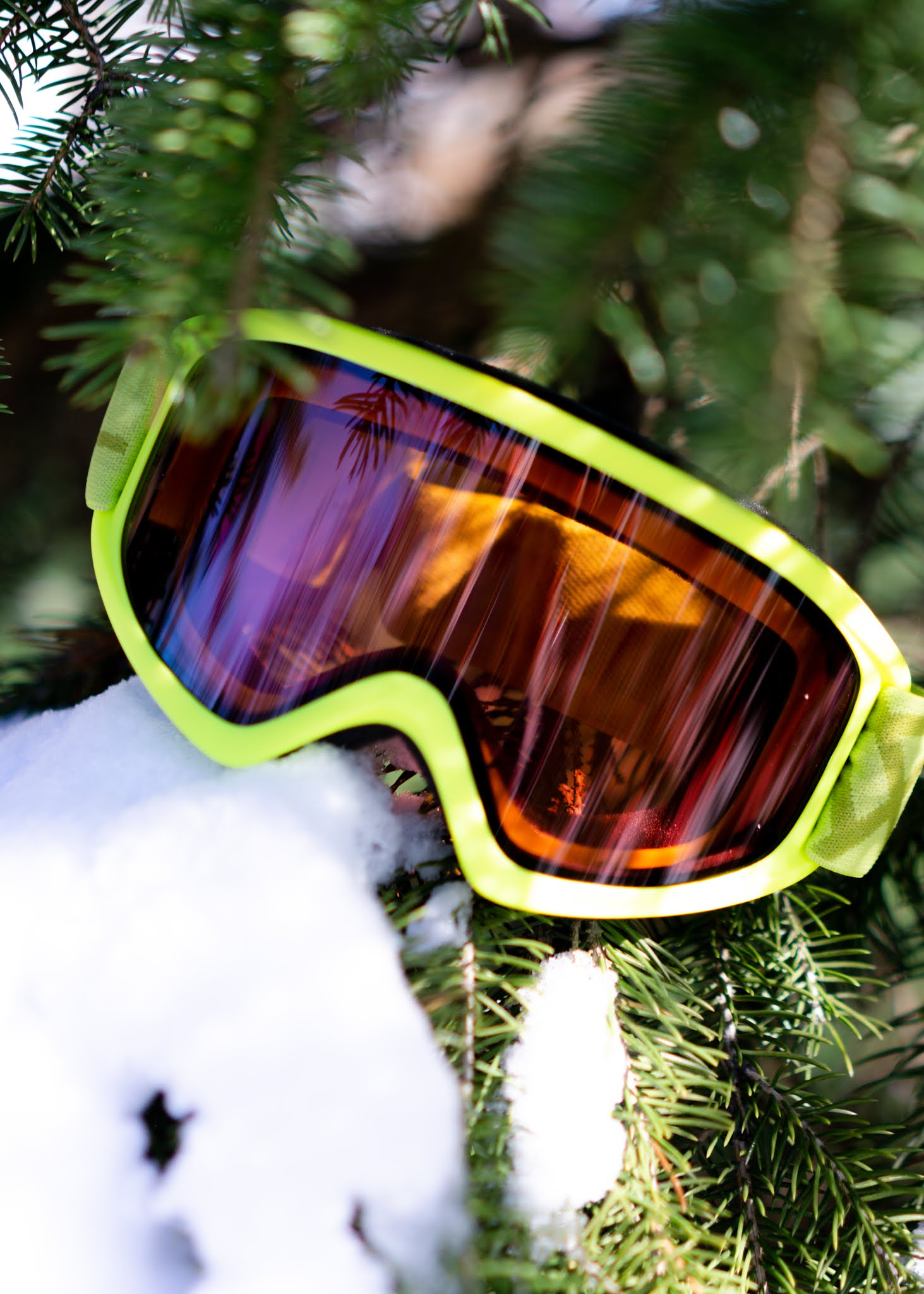 Green Bolle Ski Goggles for Winter Sports
