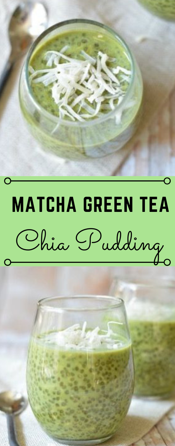 THE EASIEST MATCHA GREEN TEA CHIA PUDDING #pudding #desserts #matcha #diet #paleo #yummy