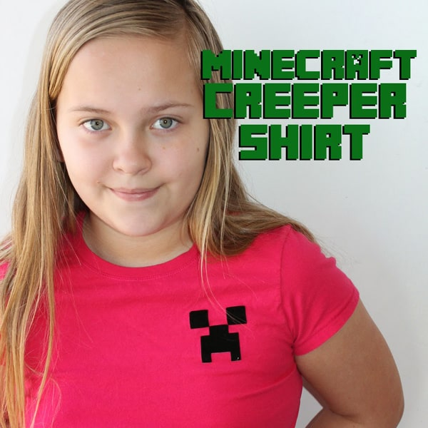 How to make a minecraft creeper shirt with iron on vinyl.
