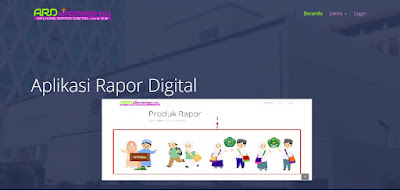 dashboard aplikasi rapor digital