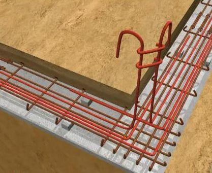 notre auto construction passive maison ossature bois m o b ferraillage des fondations. Black Bedroom Furniture Sets. Home Design Ideas