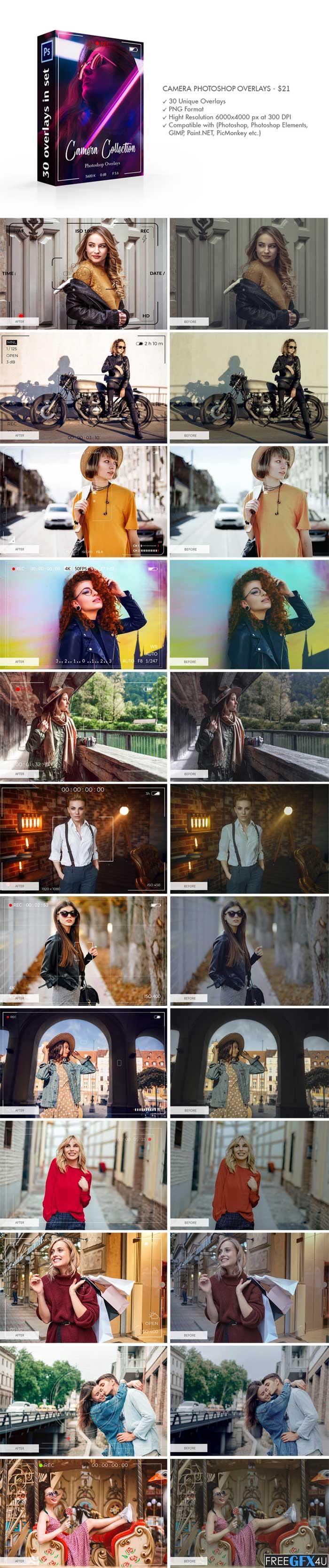 Camera Photoshop Overlays