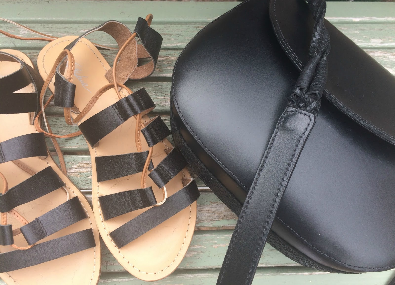 Topshop bag Asos gladiator sandals