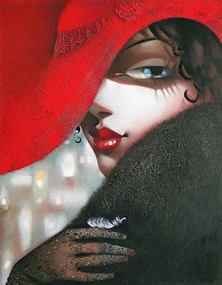 oleos-modernos-mujeres-con-sombreros-cuadros