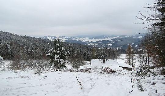 Widok na dolinę Raby.