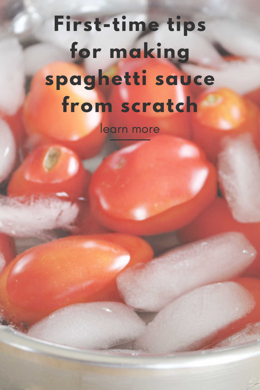 tips for spaghetti sauce