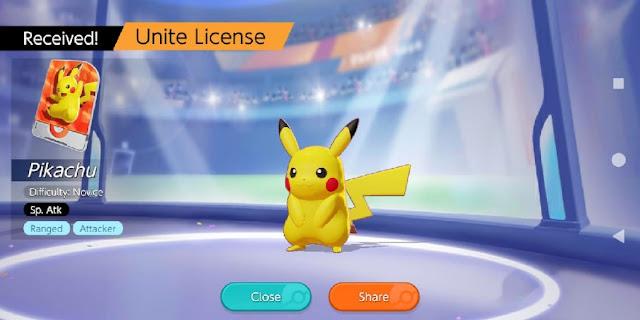 Pokemon karakter di Game Pokemon Unite