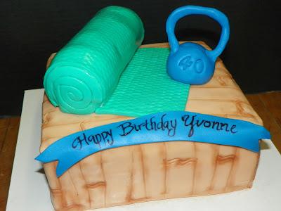 Plumeria Cake Studio Fitness Yoga Mat 40th Birthday Cake